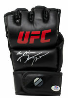 Dustin The Diamond Poirier Signed Black UFC Glove PSA/DNA ITP