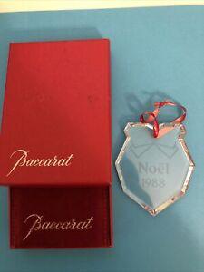 Baccarat Crystal Ornament MIB 1988 Noel Christmas Wreath