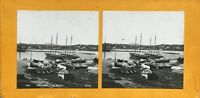 Francia Antibes Il Port Bateaux Foto Stereo Vintage Analogica c1900