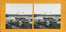 Antibes Port Bateaux Photo PL37 Stereo Vintage Argentique