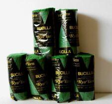 Yarn - Bucilla 100% Acrylic Pre-Cut Rya Rug Yarn #424 Green Color - Lot Of 6 New