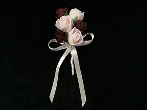 Blumen Anstecker Nadel Bräutigam Hochzeit Yaka Ignesi Cicegi Dügün Damat Bordo