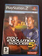 Pro évolution Soccer 5 PS2 en condiciones de trabajo + instrucciones