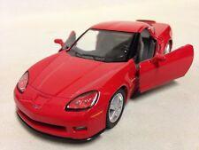 """2007 Chevrolet Corvette Z06 DieCast 5"""" Pull Back 1:36 Scale Kinsmart Toys Red"""