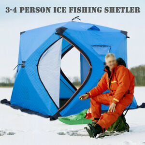 Portable Insulated Ice Shelter Waterproof & Windproof Camping Tent Fatfish