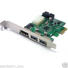 2 Port PCI-E PCI-Express 19/20 Pin USB 3.0 15Pin SATA-Anschluss Karte