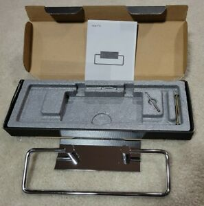 VOLA T15-16 Chrome Modern Towel Holder With Backplate NEW in Open Box MSRP $320