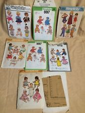 Vintage Lot Baby Doll Patterns 1970s-80s