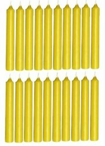 Biedermann & Sons Chime Candles, Yellow (C1123YE)