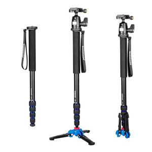 Camera Aluminium Monopod with Three Feet Support Stand + K-09 Ballhead