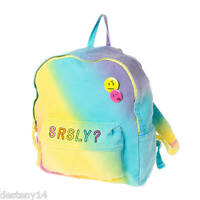 Srsly Rainbow Emoji Girls Backpack Seriously Bookbag Colorful Back to School New