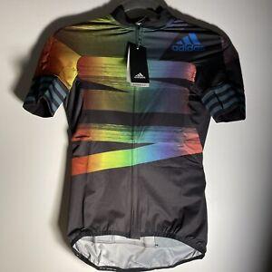 Adidas Jerseys Cycling Black/glory Blue Size Small
