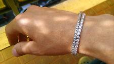 ENORME bracciale tennis oro bianco con diamanti naturali F VVSI per 5,60 carati!