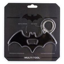 Official Batman Metal Bottle Opener Screwdriver Keyring Chain - Black DC Comics