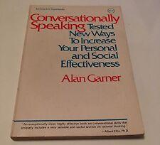 Conversationally Speaking By Alan Garner, 1st Paperback Edition 1981 Book