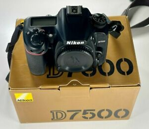 Nikon D7500 DX-Format Digital SLR Body 469 Shutter Actuations NEAR PERFECT