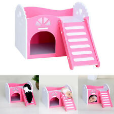 Wooden House Villa Cage Exercise Toys for Hamster Hedgehog Mouse Rat Guinea Pig#