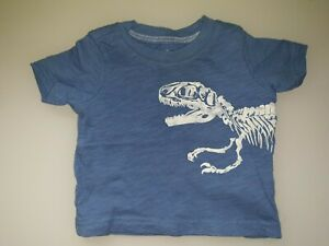 Baby Boys Clothes 3 Months Carter's Blue Dinosaurs Skeleton Tshirt