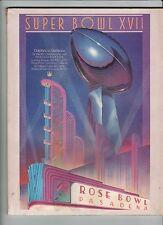 Washington Redskins Super Bowl XVll Program