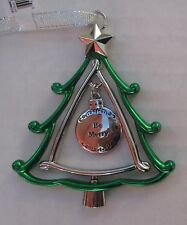 zzx Be Merry 3d CHRISTMAS TREE ORNAMENT charm Ganz