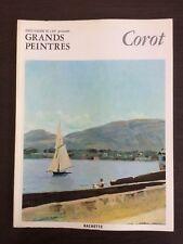 CHEFS D'OEUVRE DE L'ART GRANDS PEINTRES n°10 J B CAMILLE COROT HACHETTE 1966