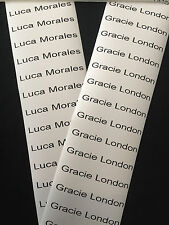 20 PERSONALISED IRON ON SCHOOL UNIFORM CARE HOME NAME LABELS TAGS WATERPROOF