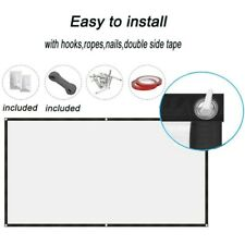 """60-200"""" Projector Projection Screen 16:9 Matte HD Home Outdoor Cinema Theater"""