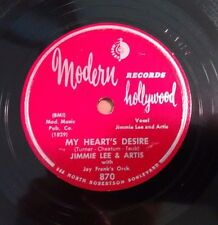JIMMIE LEE on Modern Hollywood 870 - Blue and Lonesome - Jazz 78 EE-