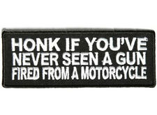 Honk If You'Ve Never. Embroidered Jacket Vest Funny Biker Saying Patch Emblem