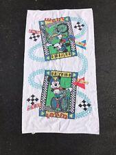 Vintage Disney Mickey Mouse Cartoon Showering Swim Towel VTG 80s 90s TV Movie