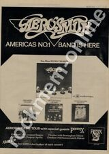 Aerosmith Rocks CBS 81379 Phoenix Glasgow Apollo LP Tour advert 1976