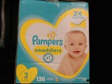 Pampers Swaddlers Diapers Size 3, 136 Count Disposable Baby Diapers