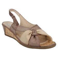 Sandali e scarpe cinturini alla caviglia con zeppa di sera per il mare da donna