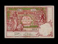 Belgium:P-67,20 Francs,1914 * Allegorical Figures * VF *