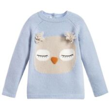 IL GUFO BLUE MERINO WOOL SWEATER 2 YEARS