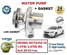 FOR SKODA OCTAVIA III 1.6TDi 2.0TDi RS 4x4 2012->on NEW WATER PUMP + GASKET KIT