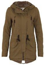 Manteaux et vestes parkas marron coton pour femme