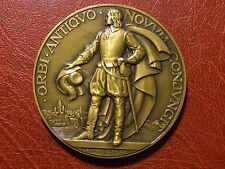 Explorer Samuel de Champlain 1932 S.S. Champlain Medal By Raymond Delamarre