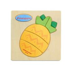 Wooden Cartoon Pineapple Blocks Toddler Baby Kids Educational Toy Puzzle Gift