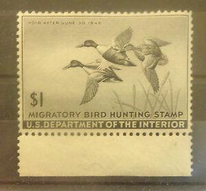 US Duck stamp RW12 mint DG HR XF