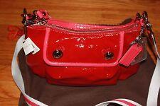 Coach Red Patent Shiny Leather Medium Cross Body Shoulder Handbag, NWT