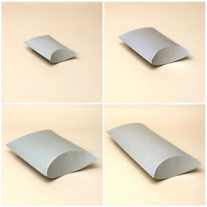 12 x Pack Silver Grey Pillow Gift Boxes - Wedding Favours/ Jewellery./ Gift Box
