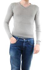 Kris Van Assche Men's Sweater Pullover V-neck Grey Size L BCF511