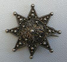 Vtg 1888 Victorian Marius Hammer Bergen Norwegian 830 Solid Silver Pin Brooch