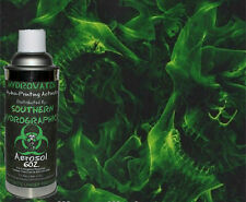 HYDROGRAPHIC FILM WATER TRANSFER HYDRO DIP 6OZ. ACTIVATOR GREEN SKULLS KIT
