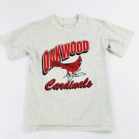 Vintage Oakwood Cardinals Graphic T Shirt Single Stitch Youth (S/M)