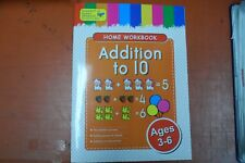 HOME WORKBOOK ADDITION TO 10 WRITING AND COLOURING AGES 3-6 FREE POST