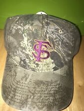 WARRIOR FLORIDA STATE UNIVERSITY FSU SEMINOLES GREY LOGO CAMO HAT CAP ADJUSTABLE