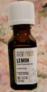 Aura Cacia LEMON 100% pure essential oil .5 fl oz