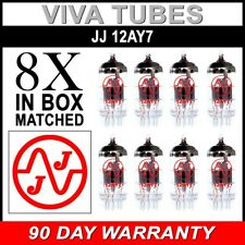 Gain Matched Octet (8) JJ 12AY7 / 6072A Vacuum Tubes - Brand New